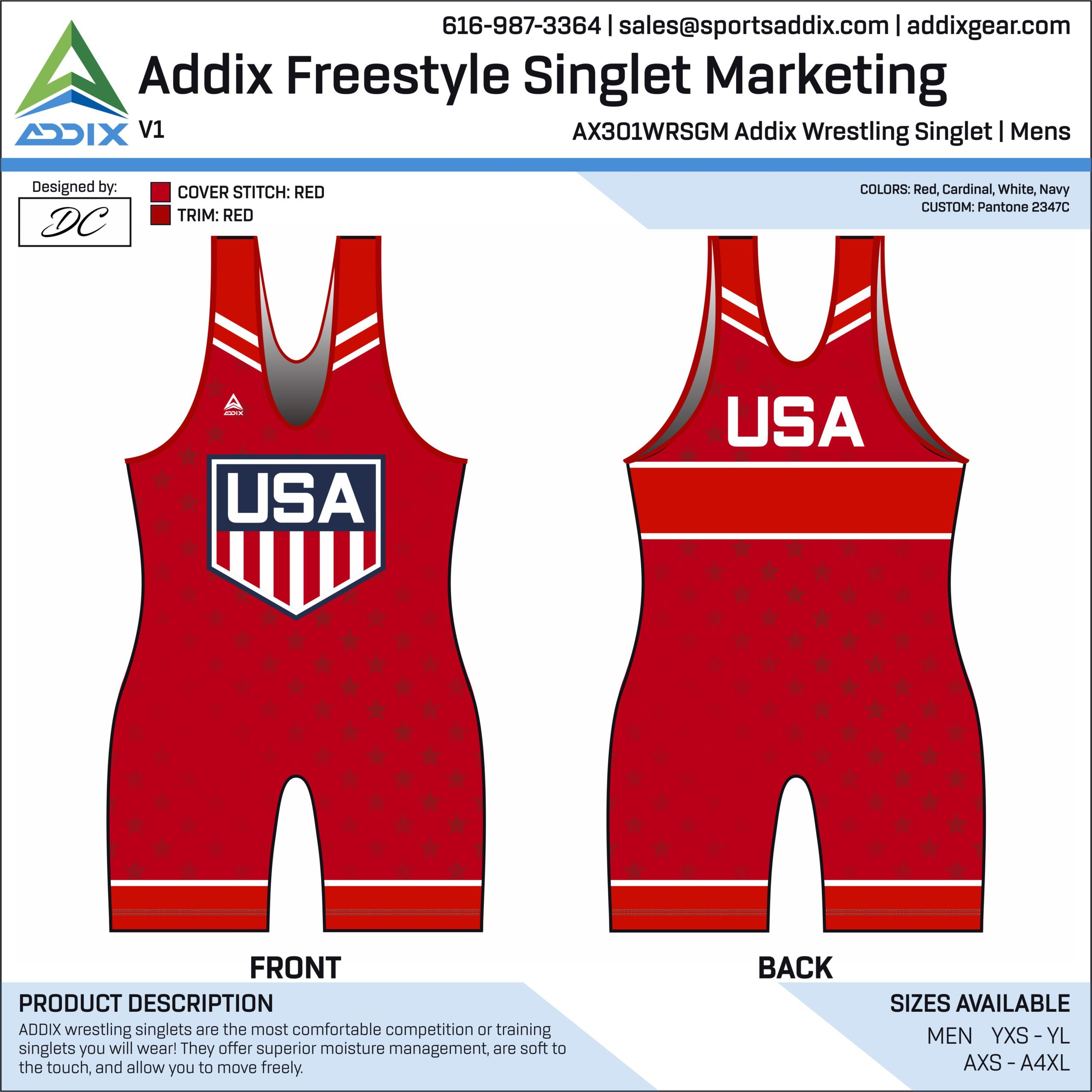 Addix Freestyle Wrestling Singlet