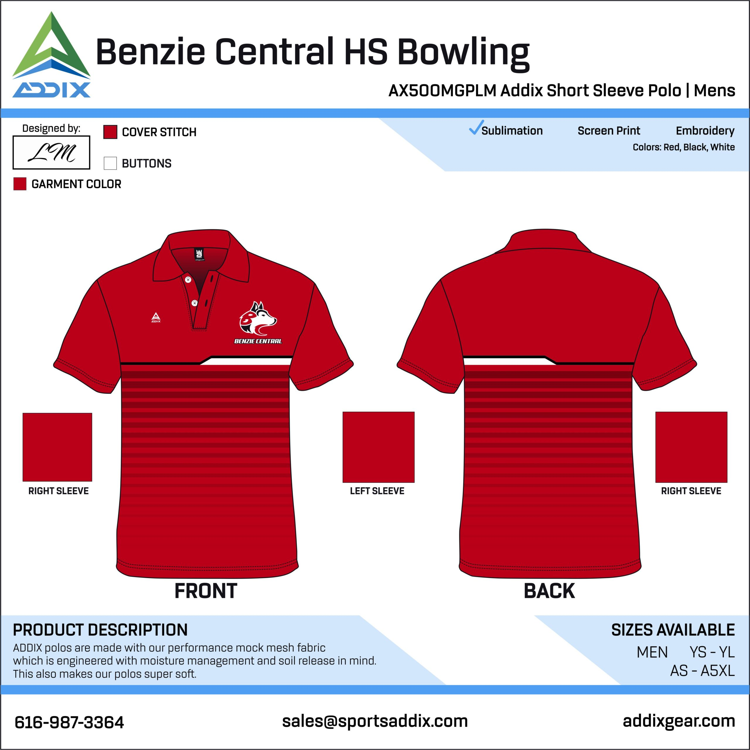 Bowling Custom Template Design- Polo