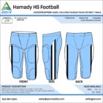 Football Custom Template Design - Pants
