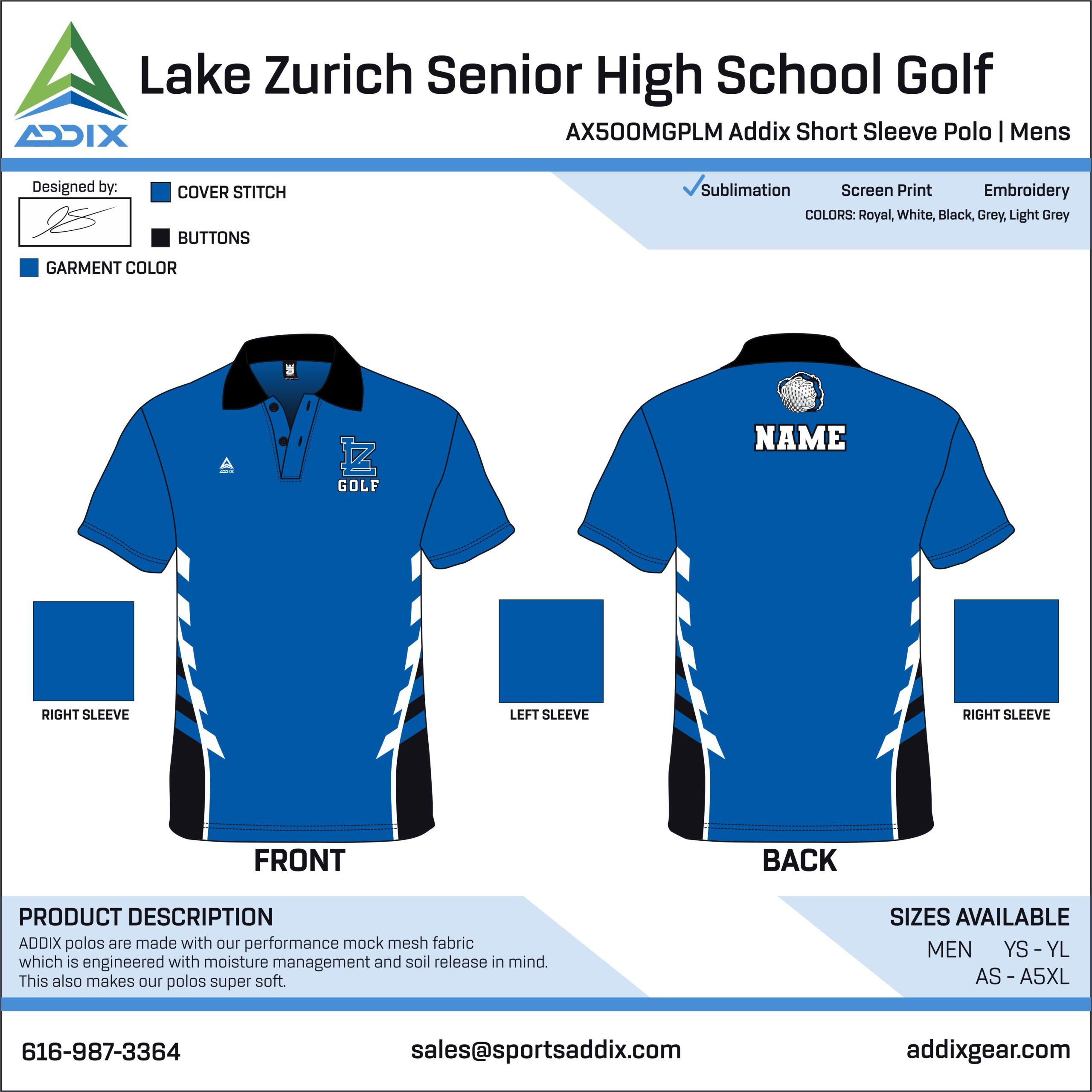 Golf Custom Template Design - Polo