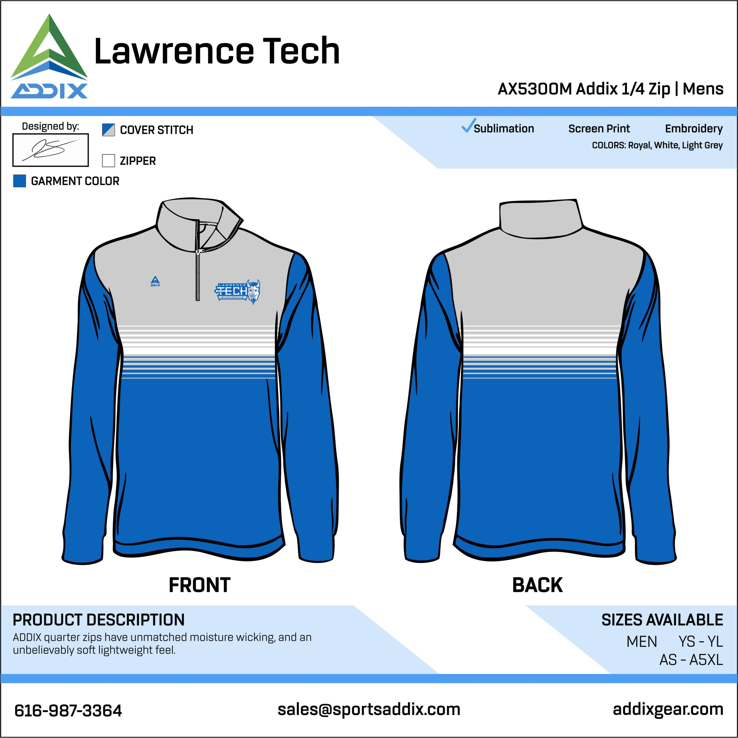 Golf Custom Template Design - Quarter-Zip