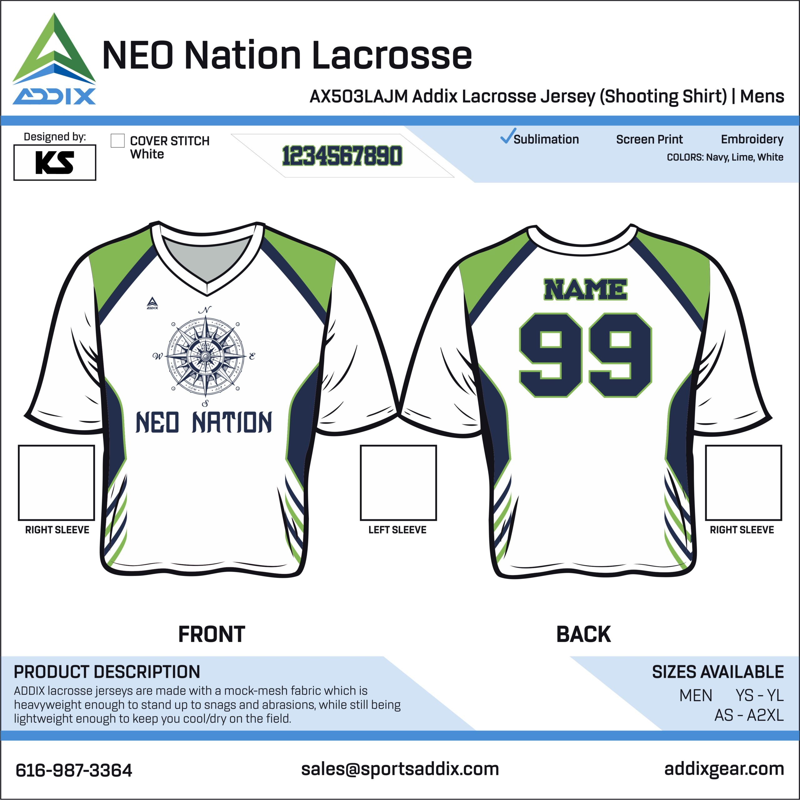 Lacrosse Custom Template Design - Jerseys