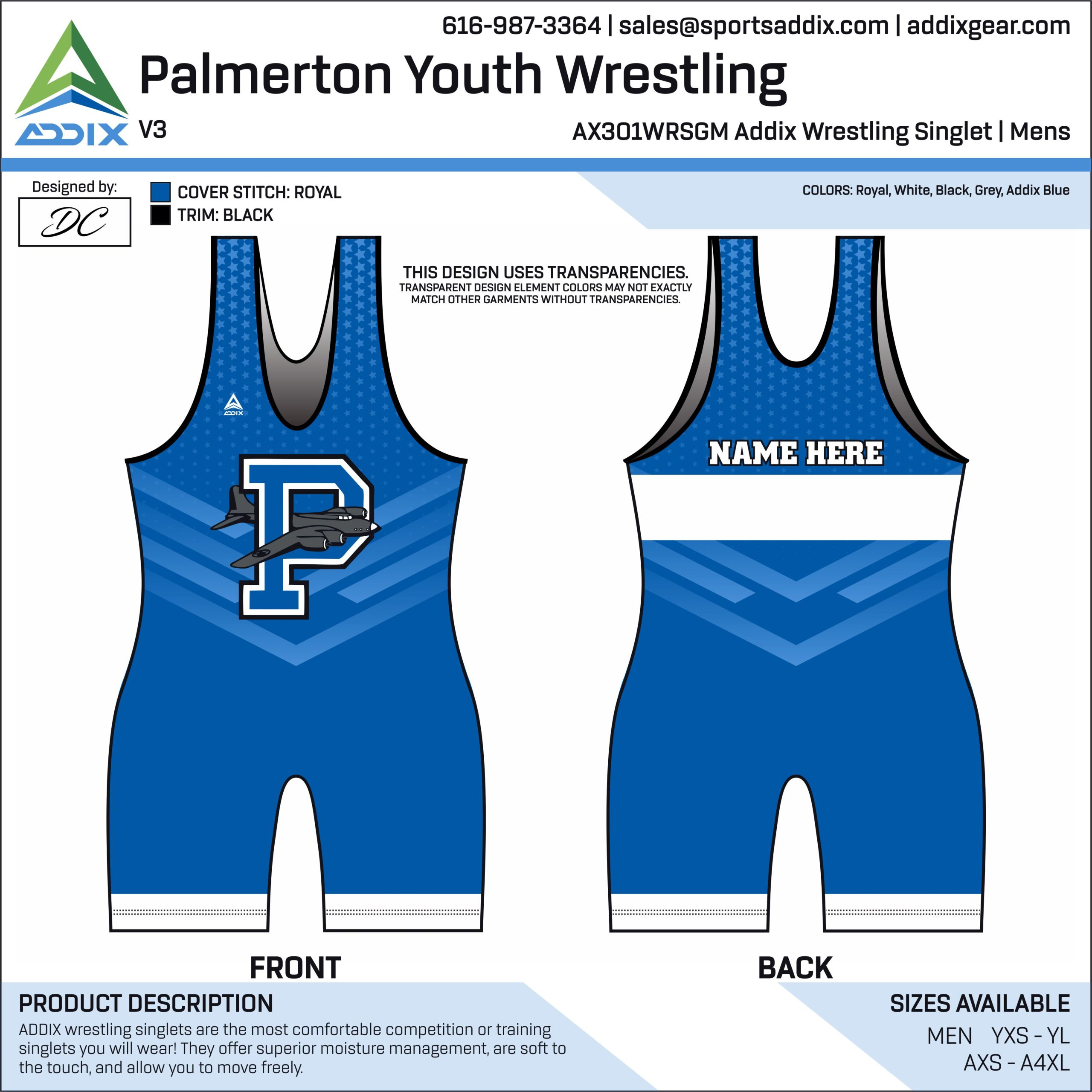 Palmerton Youth Wrestling Singlet