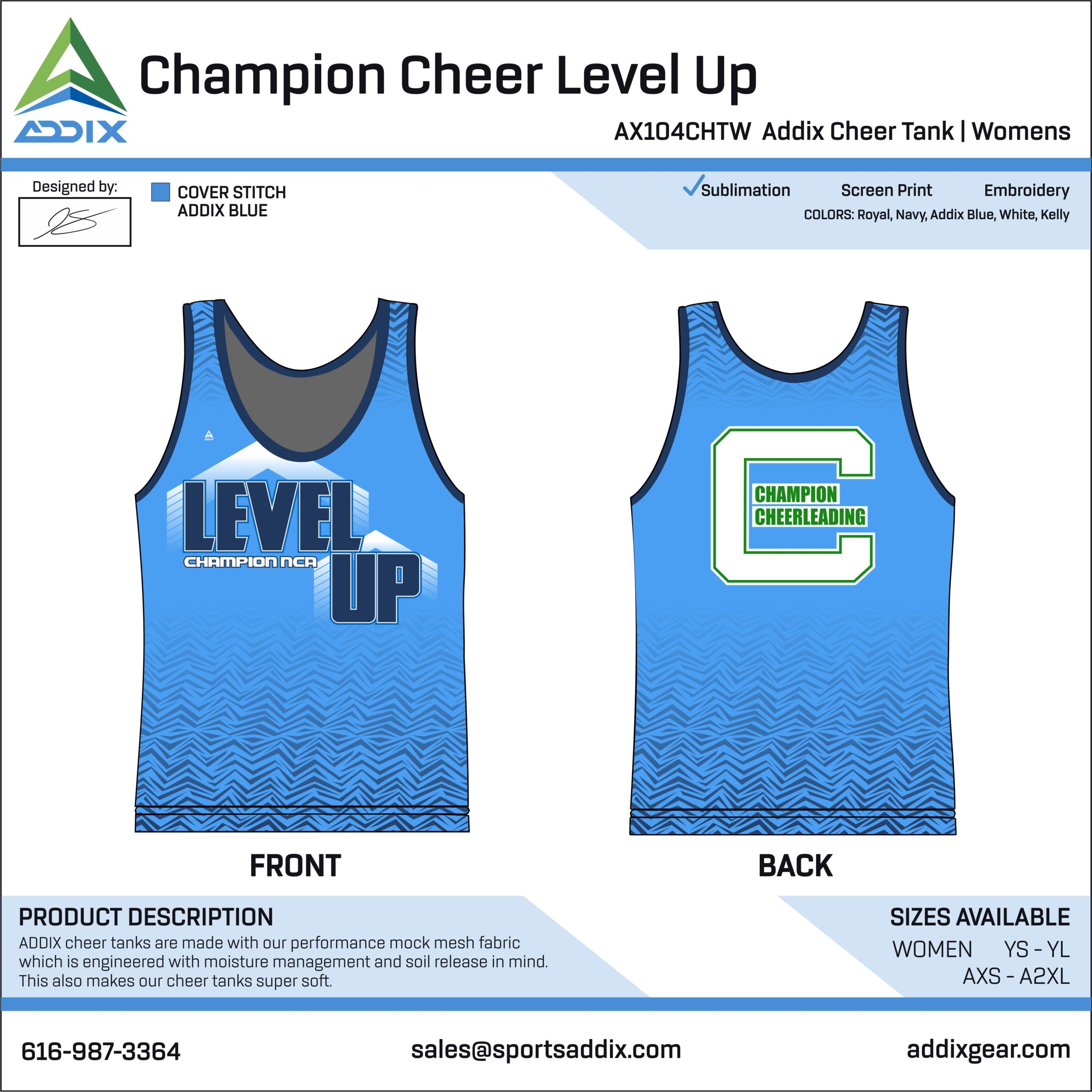 Sideline Cheer - Tank Tops_Champion Cheer Level Up