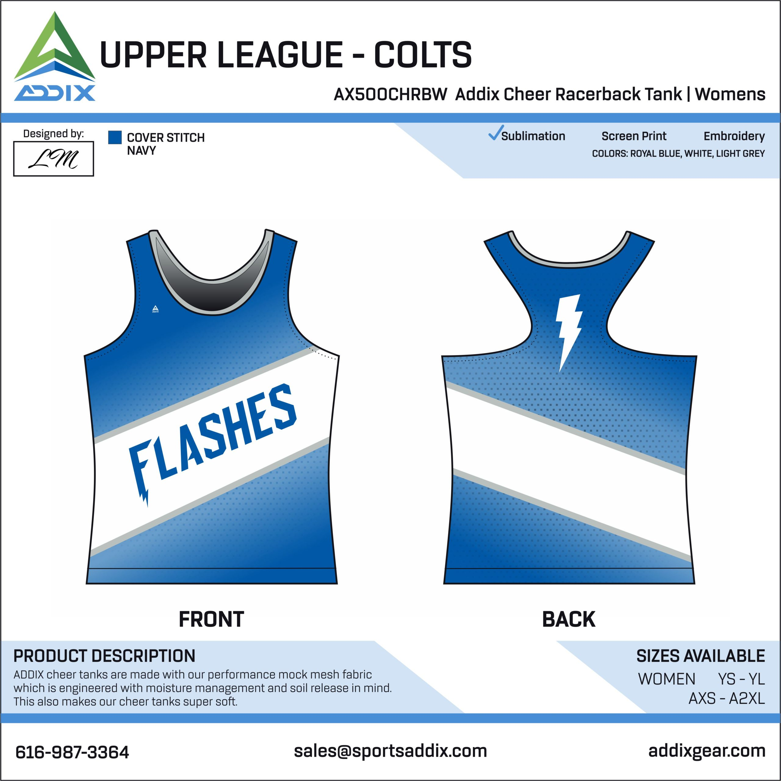 Sideline Cheer - Tank Tops_UPPER LEAGUE - COLTS