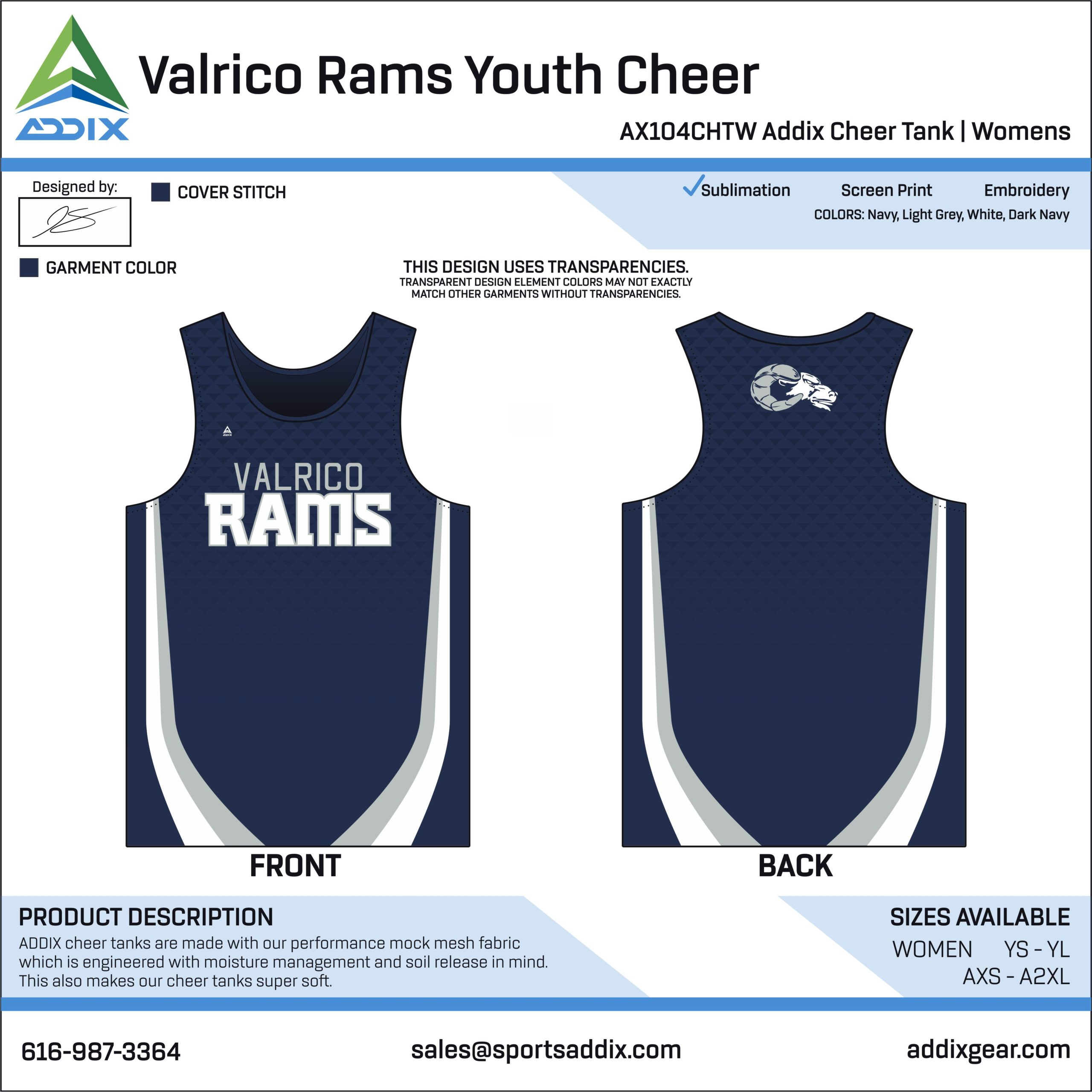 Sideline Cheer - Tank Tops_Valrico Rams Youth Cheer