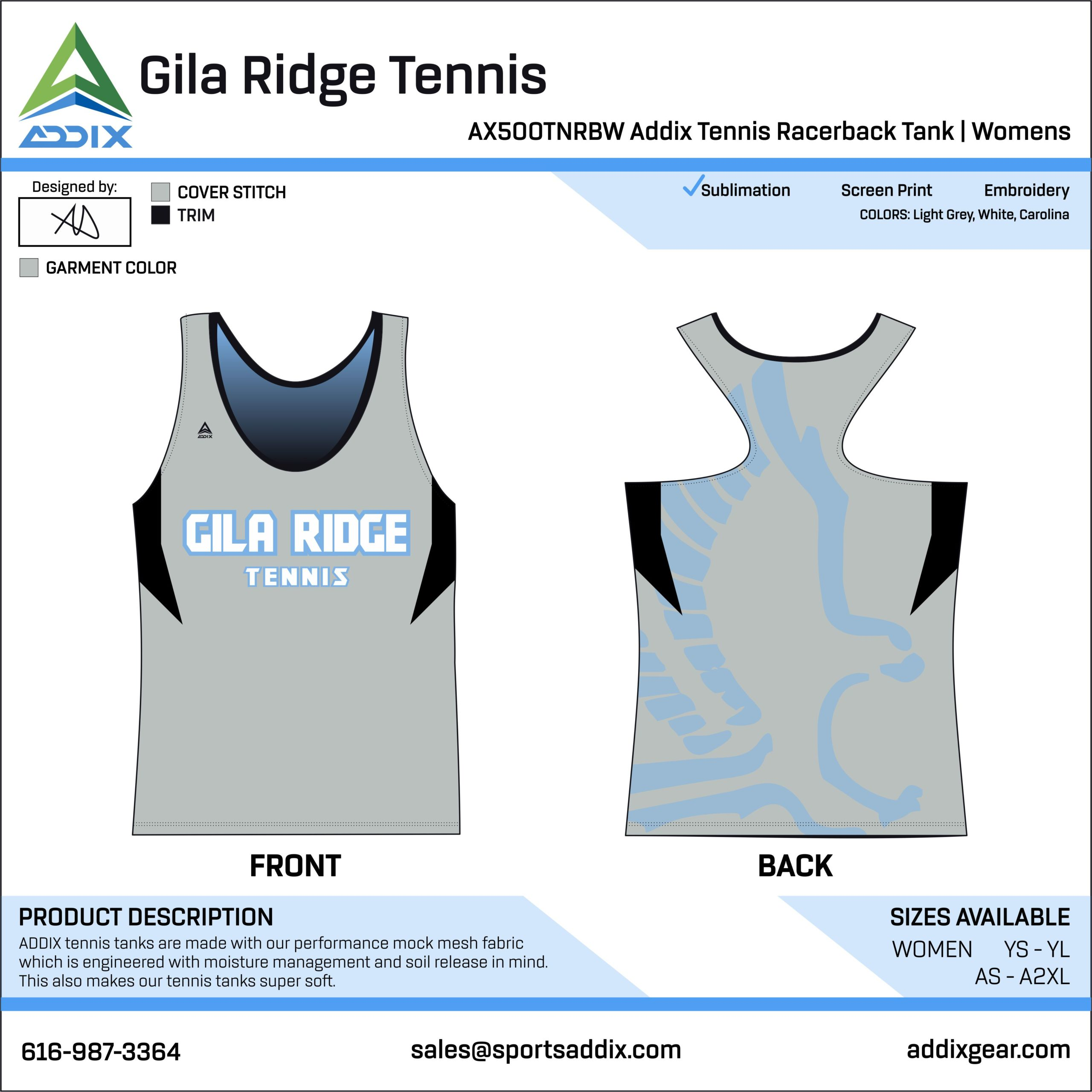 Gila Ridge High School Tennis Racerback