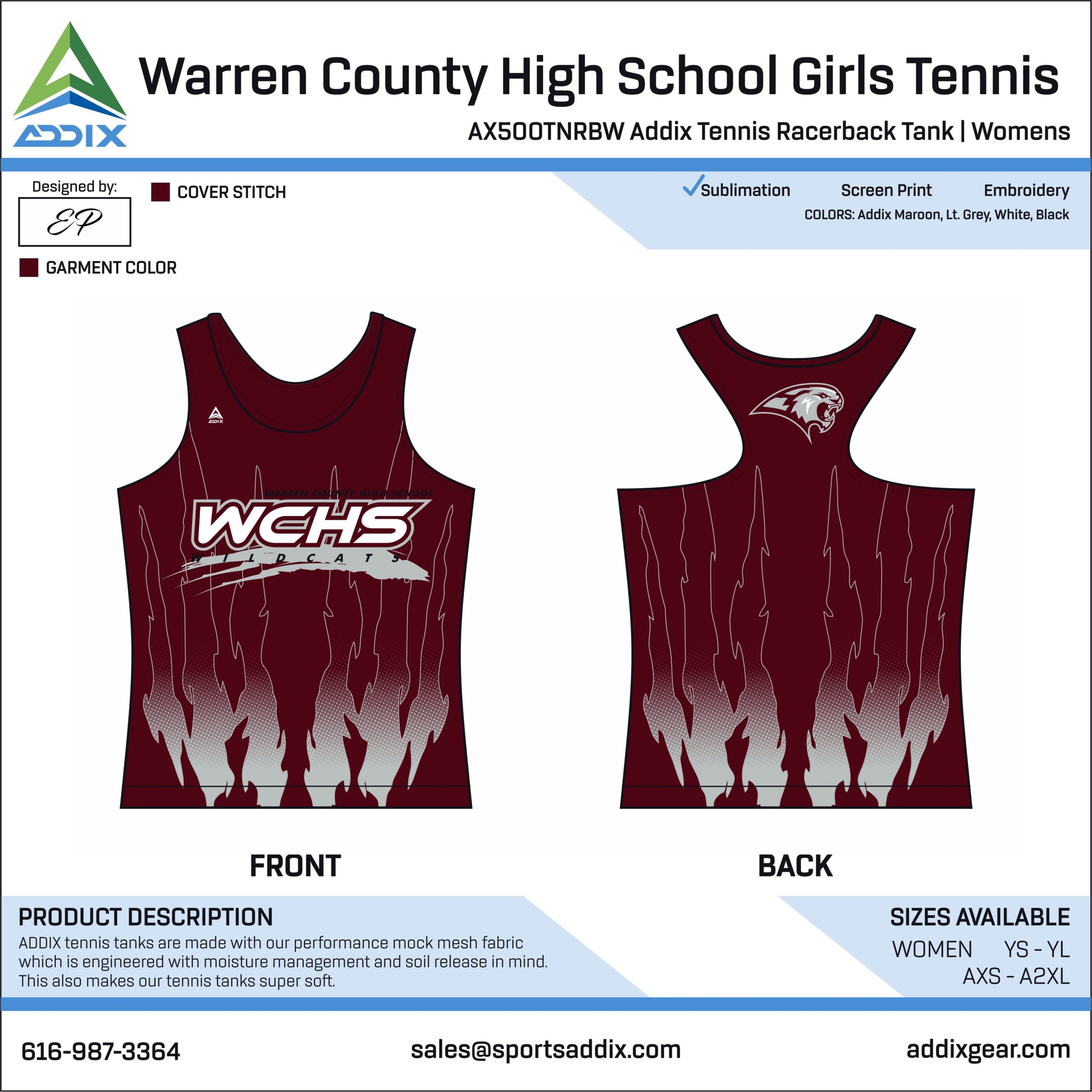 Warren County High School Girls Tennis Racerback
