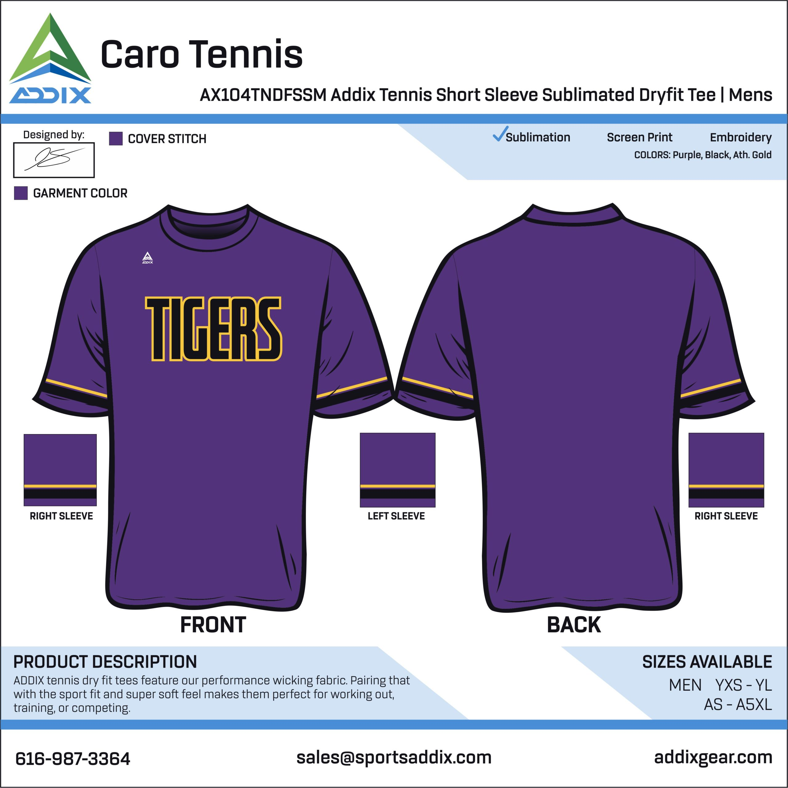 Caro High School Tennis Uniform