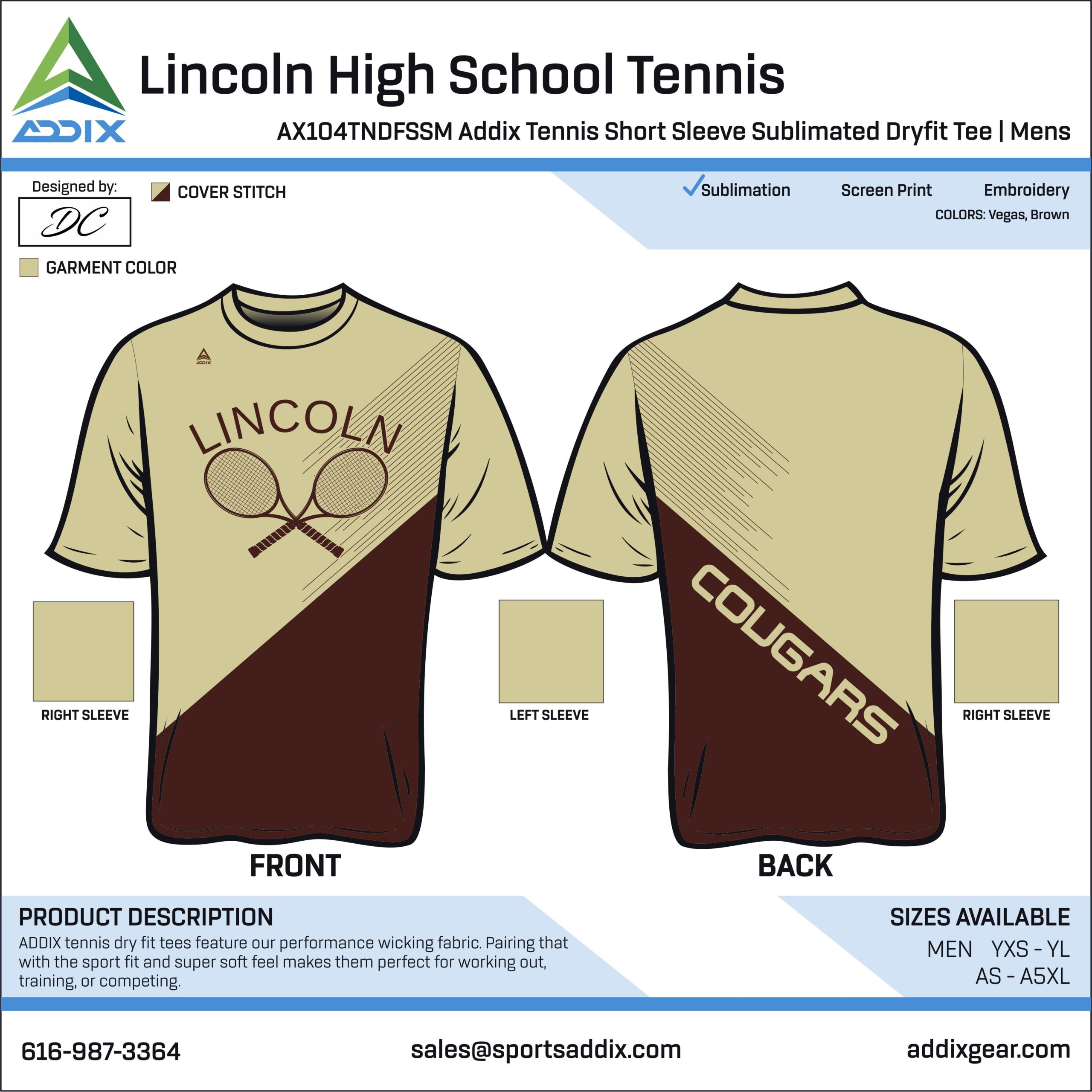 Lincoln High School Tennis Uniform