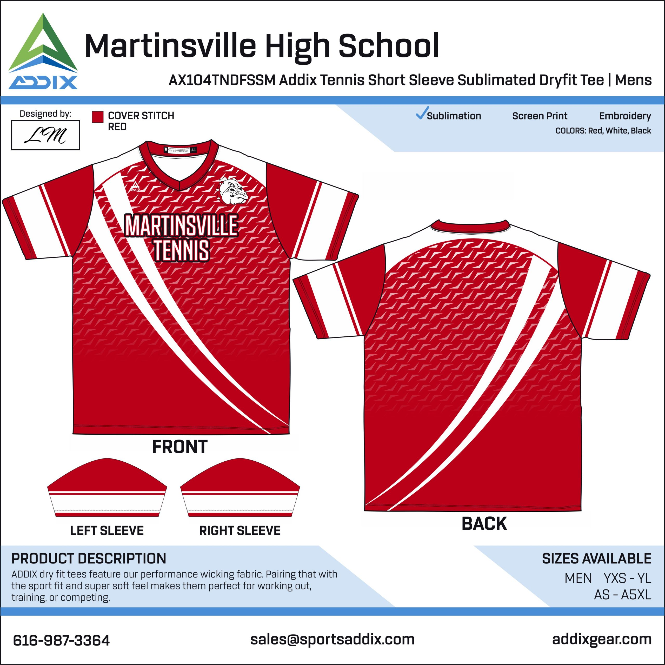 Martinsville High School Tennis Uniform