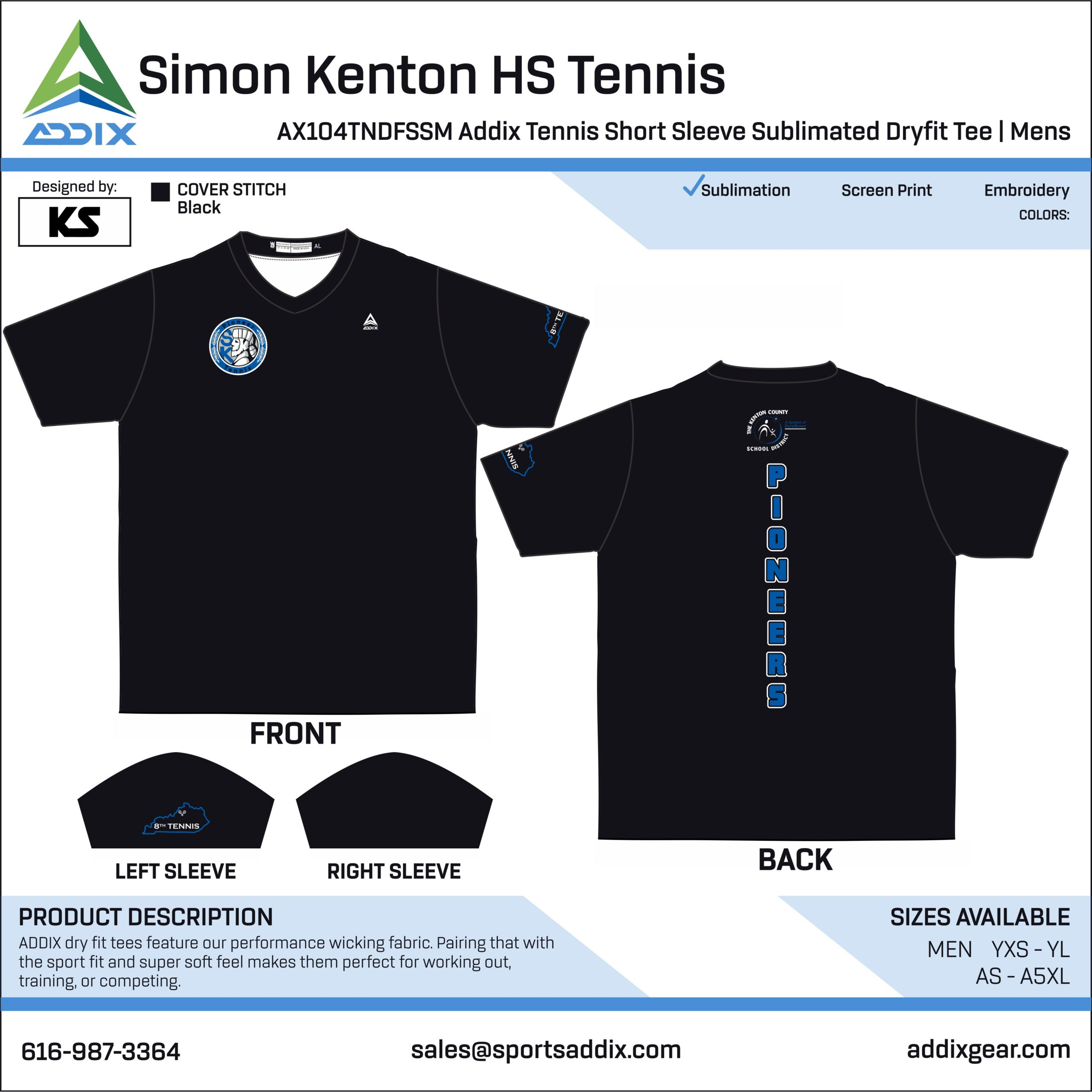 Simon Kenton High School Tennis Uniform