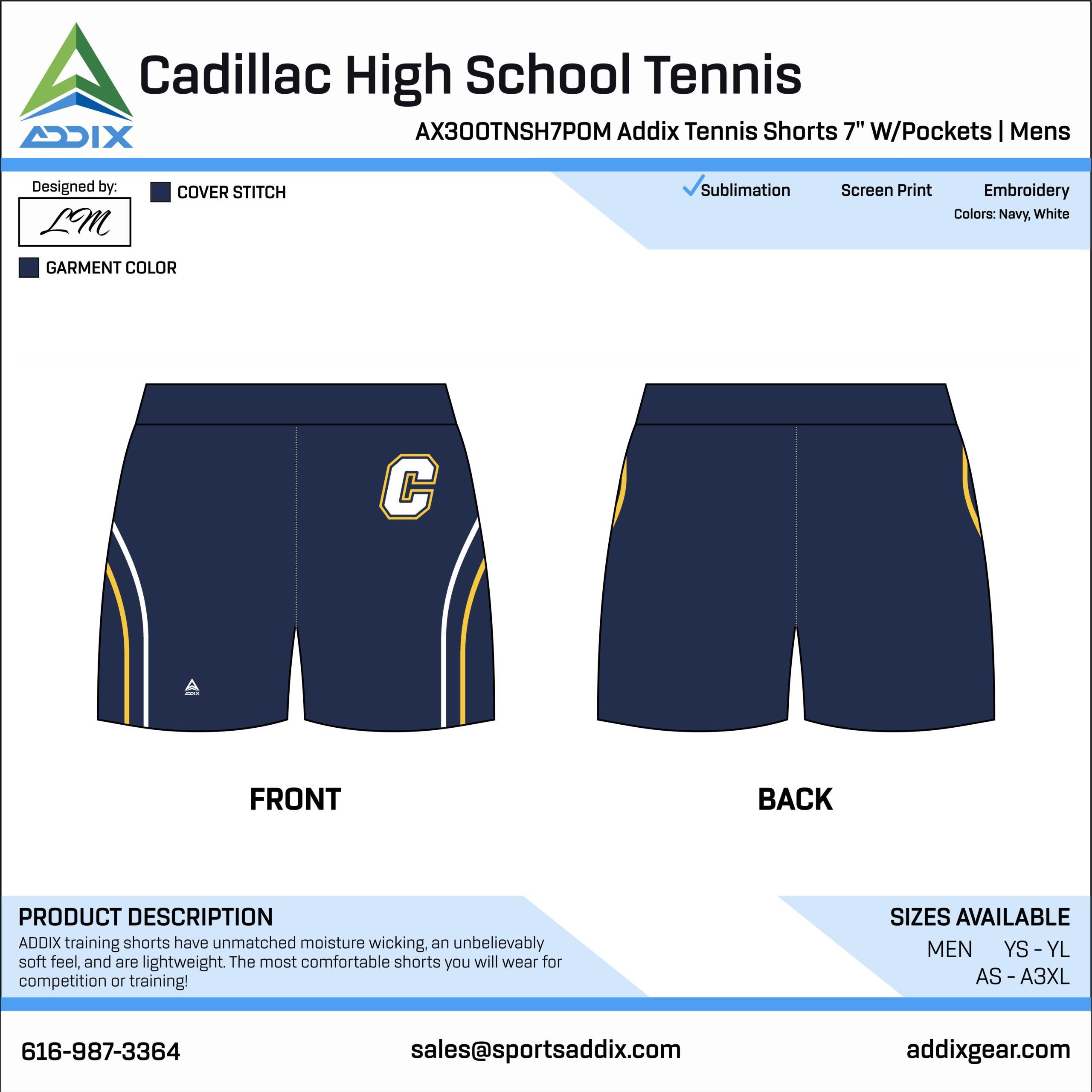 Cadillac High School Tennis Shorts