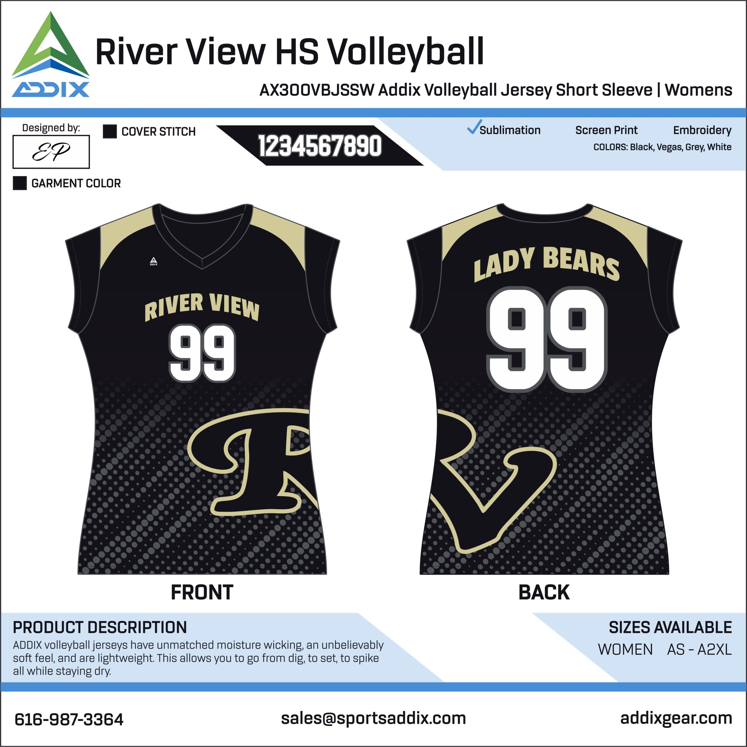 Volleyball - Jerseys_River View HS Volleyball