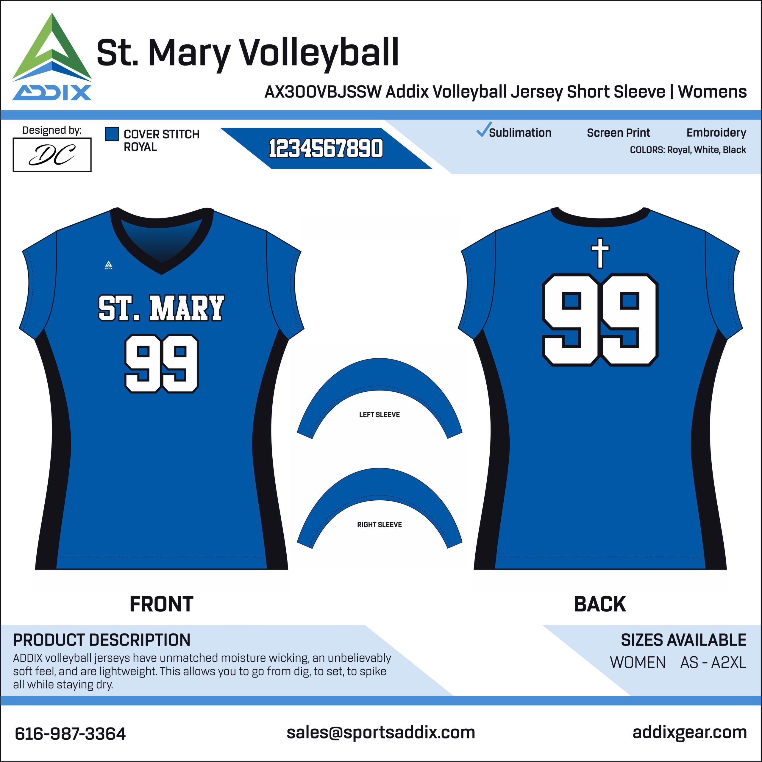 Volleyball - Jerseys_St. Mary Volleyball