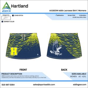 Lacrosse Custom Template Design - Skirt