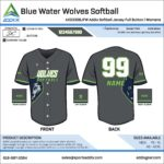 Softball Custom Template Design - Full-Button Jerseys
