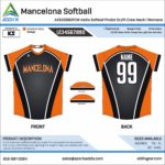 Softball Custom Template Design - No-Button Jersey